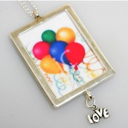 Birthday Frame Photo Necklace