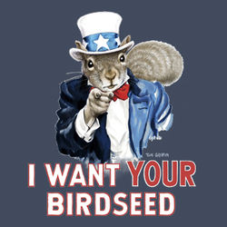 Uncle Sam Squirrel T-Shirt