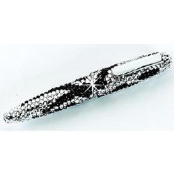 Crystal Zebra Print Pen