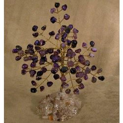Amethyst Tree of Life Wire Sculpture