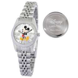 Women's Personalized Silvertone Mickey Mouse Watch