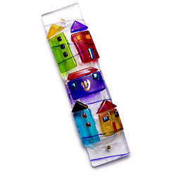 Handmade Glass House Mezuzah
