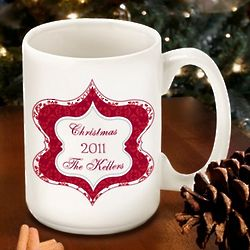 Personalized Christmas Tapestry Mug
