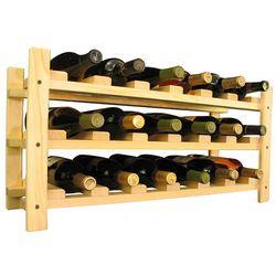 Wooden 18 Bottle Stackable Wine Rack Storage Kit