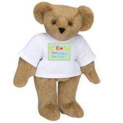 """15"""" Happy First Birthday Teddy Bear"""