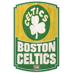 Boston Celtics Vintage Wood Sign