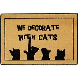 We Decorate with Cats Doormat