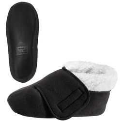 Slip Resistant Bootie Slippers with Velcro Fasteners