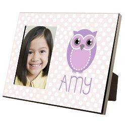 Girl's Personalized Owl Picture Frame