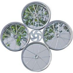 Reclaimed Bicycle Rims Quad Mirror