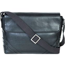 Glazed Calf Leather Messenger Bag
