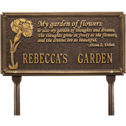 Customized Garden Poetry Plaque