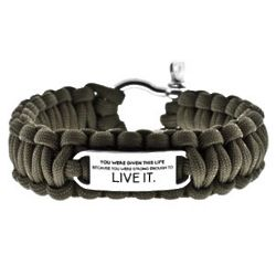 Live It Green Paracord Survival Bracelet