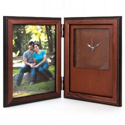 Wooden Desk Clock and Frame