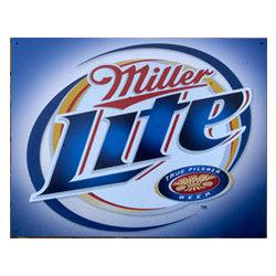 Miller Lite Brushed Metal Sign
