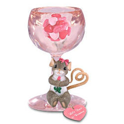 Charming Tails Let's Toast To Romance Mouse Figurine