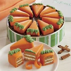 Carrot Cake Pie Slice Mini Cakes Gift Tin