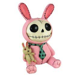 Furry Bones Pink Bunny Coin Bank
