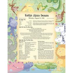 Birthday Keepsake Color Print