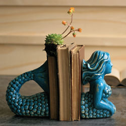 Ceramic Mermaid Bookends