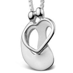 Loving Family Couple with Extender Heart Pendant