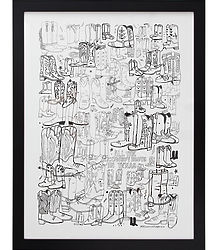 All the Cowboy Boots in Texas Framed Print