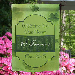 Irish Welcome Personalized Garden Flag
