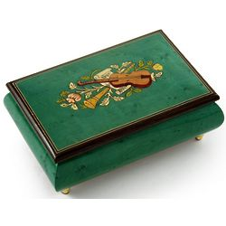 Handcrafted Mint Green Instrument Music Box