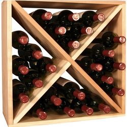 24 Bottle Ponderosa Pine Wine Storage Cube