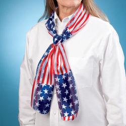USA Patriotic Flag Print Scarf