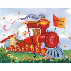 Choo Choo Train Personalized Print