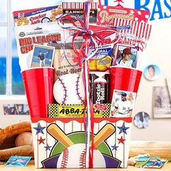 Baseball Inspired Gourmet Gift Basket
