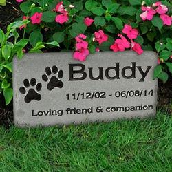 Pet Grave Marker Engraved Medium Stone