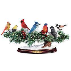 Light-Up Winter Songbird Sculpture