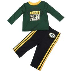 Infant and Toddler Packers Shirt and Pant Set