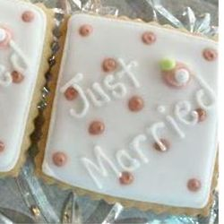18 Just Married Wedding Cookie Favors