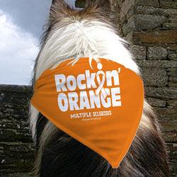 Rockin Orange for MS Pet Bandana