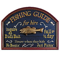 Fishing Guide For Hire Sign