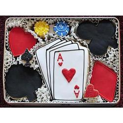 Poker Night Sugar Cookie Gift Tin