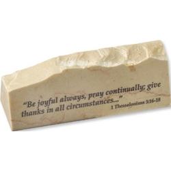 1 Thessalonians 5:16-18 Jerusalem Stone Paperweight