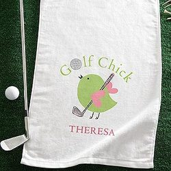 Golf Chick Personalized Ladies Golf Towel