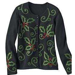 Holly-Go-Brightly Cotton Cardigan