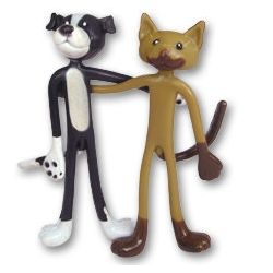 Bendable Cat and Dog Toys