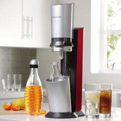 Red SodaStream Crystal Home Soda Maker