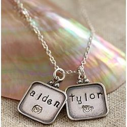 Hand-Stamped Family Pendant