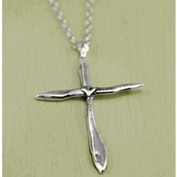 Divine Love Silver Cross Necklace