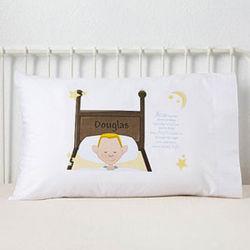 Boy's Personalized Bedtime Prayer Pillowcase