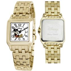 Disney Goldtone Perfect Square Mickey Mouse Watch