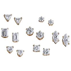 Cubic Zirconia Clip-On Stud Earring Collection