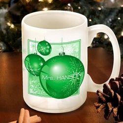 Green Ornament Coffee Mug